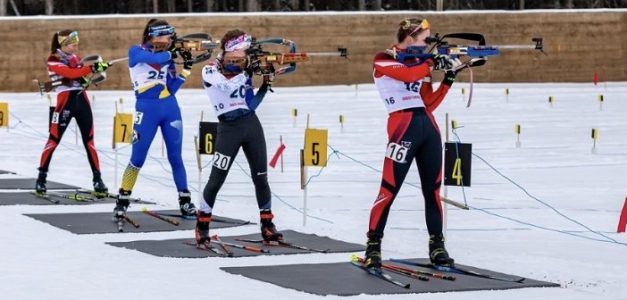 Natasia Varieur (right) at the Canada Winter Games (supplied)