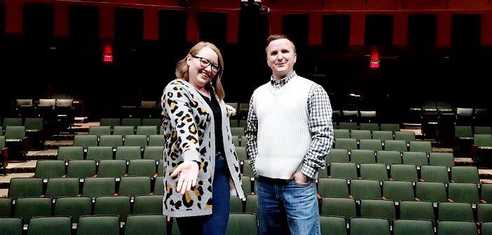 Samantha Love, customer service representative, and Matt Huddlestone, theatre manager, welcome everyone to experience the Algonquin Theatre