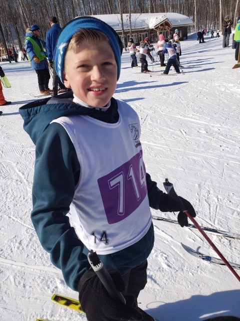 Seth Cushman, a student at Spruce Glen, tried out biathlon for the first time this year and loved it