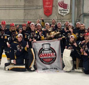 The Huntsville MBRP Major Midget Otters are 2019 OMHA champs