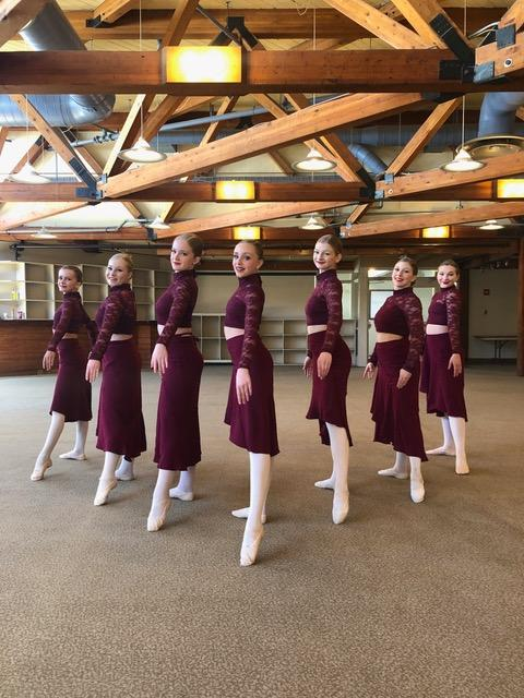 The Intermediate/Senior Ballet Group (from left)  Lauren Lane, Briar Summers, Kaitlyn Wright, Emma McLellan, Sadie Hamilton, Alexus Banks, and Emma Harvey received Dynamic Gold (supplied)