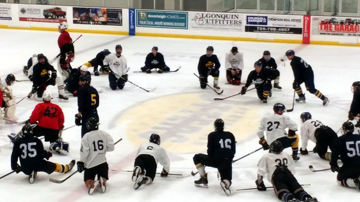 The Jr C Otters prospect camp attracted 38 interested players (Photo: Debbie Reynolds)