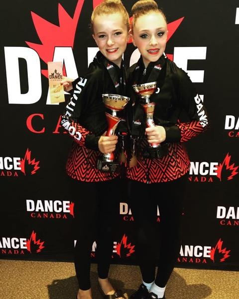 "Lauren Lane and Emma McLellan won received Dynamic Gold and first place overall for their ballet duet ""Mascaraed Waltz"" (supplied)"