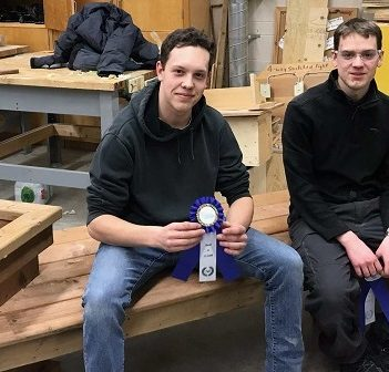 Liam Martin-McTavish (left) and Samuel Topps are two of the HHS students headed to the Ontario Skills Competition in May (Photo: Clare McLean-Wilson)