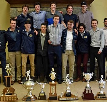 Members of the 2018-19 Huntsville Jr C Otters at their year-end banquet