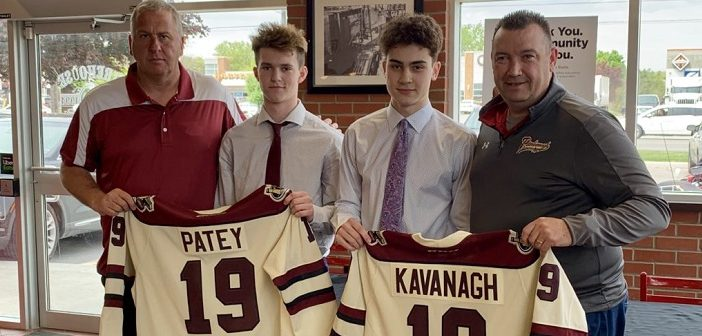 Cole Patey (second from left) will don a Peterborough Petes jersey next season (Photo: gopetesgo.com)