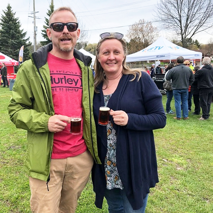 Craft beer enthusiasts Rich Pine (left) and Heather Raynor