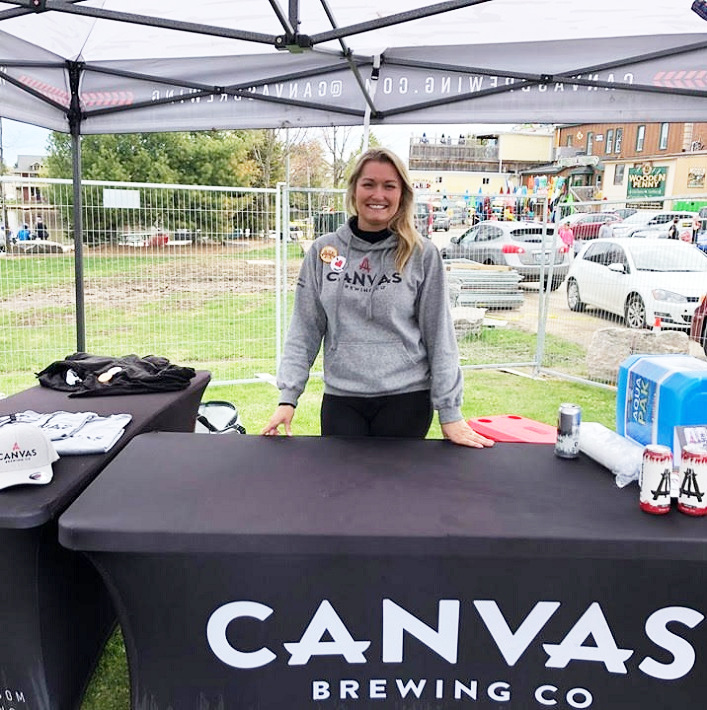 Halley Clover of Canvas Brewing Co. which will be opening summer 2019 in the old Dollarama location at Brendale Square