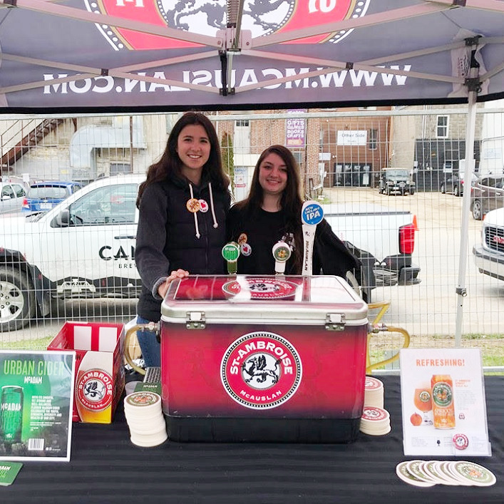 Madison Kacsmar and Haylee Manderino from Montreal based brewery St-Ambroise