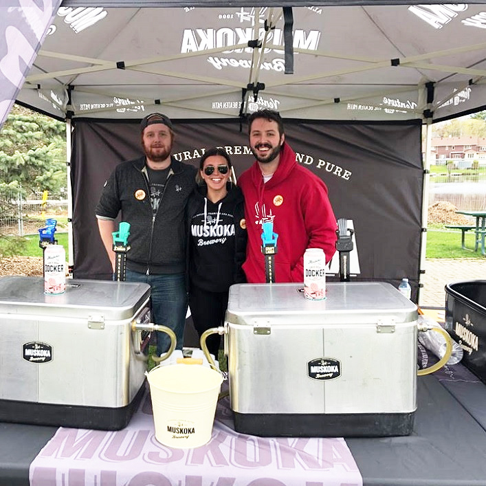 (From left) Matt Donovan, Zoe Onley and Andrew Lawson from Bracebridge-based Muskoka Brewery, which has been around for over 20 years