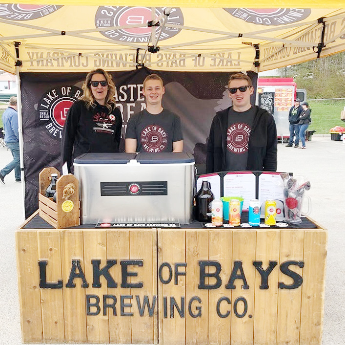 (From left) Mel Mercier, Dylan Welsh and Kaleb Aberle from Lake of Bays Brewing Co.