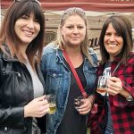 (From left) Natalie Pigean, Melissa Patry, and Francine Gouland sample brews at the Muskoka 2/4 Craft Beer Festival
