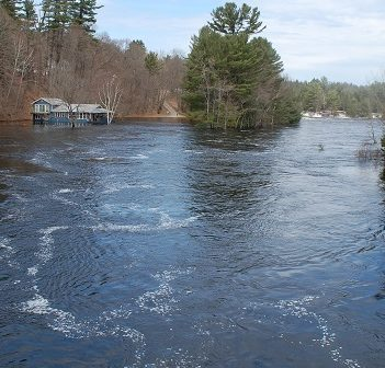 The North Branch of the Muskoka River, pictured here on April 25, 2019, is one of the waterways with restricted navigation (Doppler file photo)
