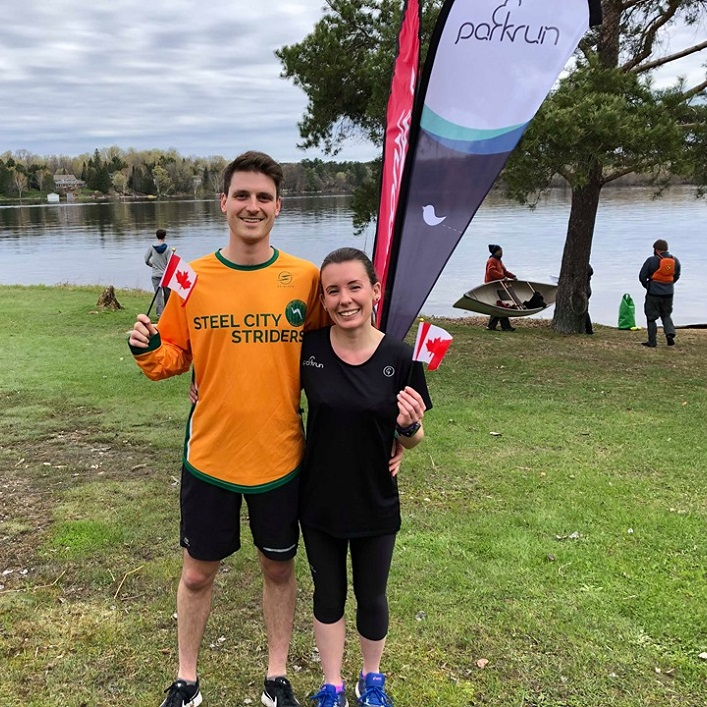 Tourists from the UK who have completed over 100 parkruns and decided to join the first-ever Huntsville run