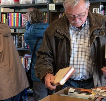 Cathy Francis' book sale was a popular event for book lovers (supplied)