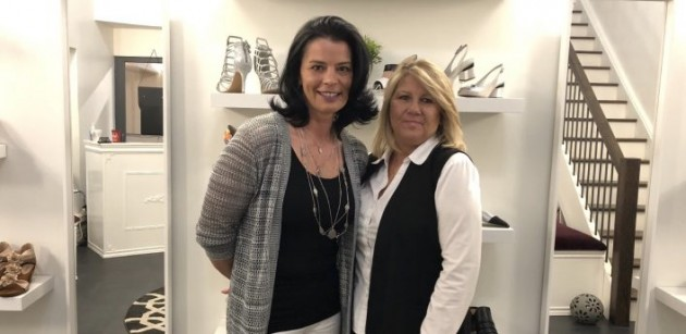 Jana Striezova (left) and Lynne Reynolds recently opened their dream store, Majestic Sole