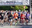 Runners start the half marathon at Band on the Run 2019