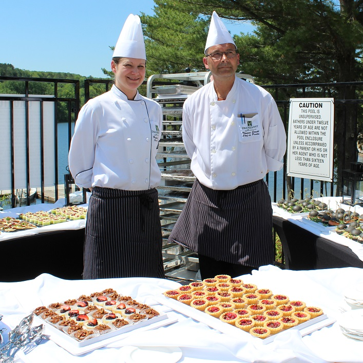 Meanwhile, Deerhurst culinary staff served up delicious treats for attendees