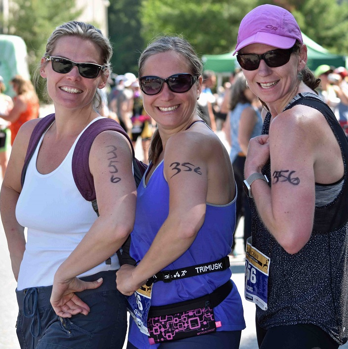 The Fix Chix: Heather Cleary did the swim Martina Kruger biked and Karen Jensen ran. They said they had a great day and hope to sign up again next year.