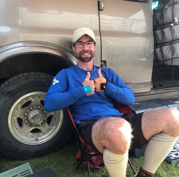 After seven hours of rest, Chris Near is ready to head back out on the river (Rebecca Francis)