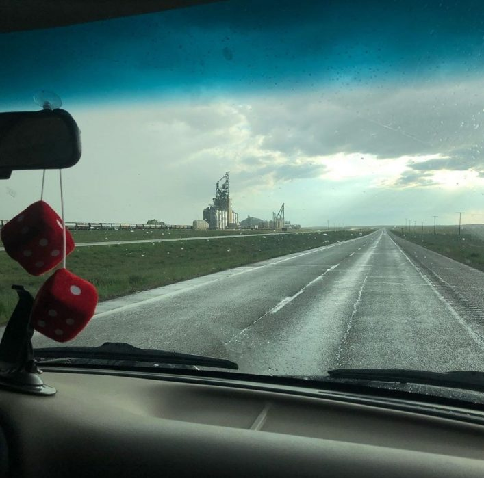 Driving through the prairies at Swift Current, SK (Rebecca Francis)