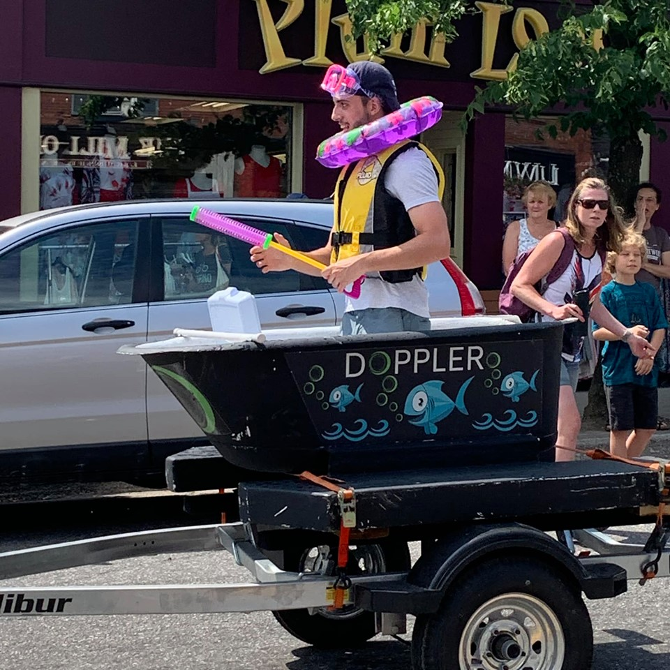 Doppler bathtub driver Jesse Jodouin is ready to race (Photo courtesy of Rotary Dockfest)
