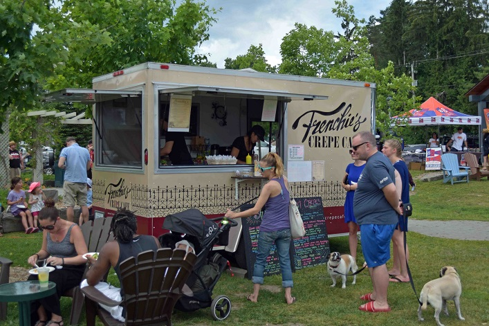 River Mill Park was full of vendors and entertainment, including Frenchie's Crepe Cafe