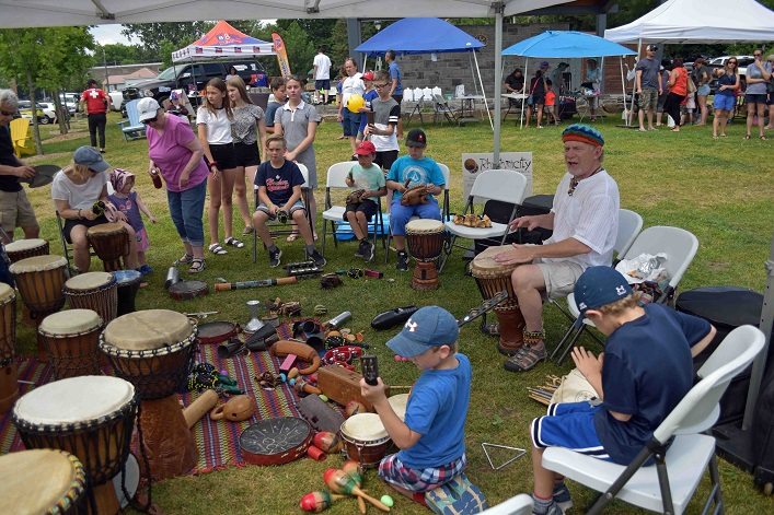 "Barry ""Bazza"" Hayward's drum circle was a hit with young and old"