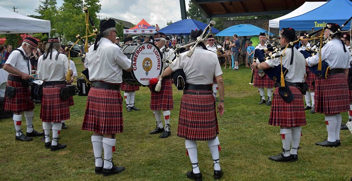 Cameron of Lochiel Pipes and Drums brought some Scottish class to the festivities