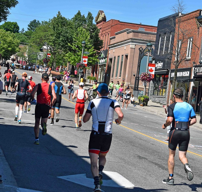 The new run route took racers along Main Street and out to the west of town