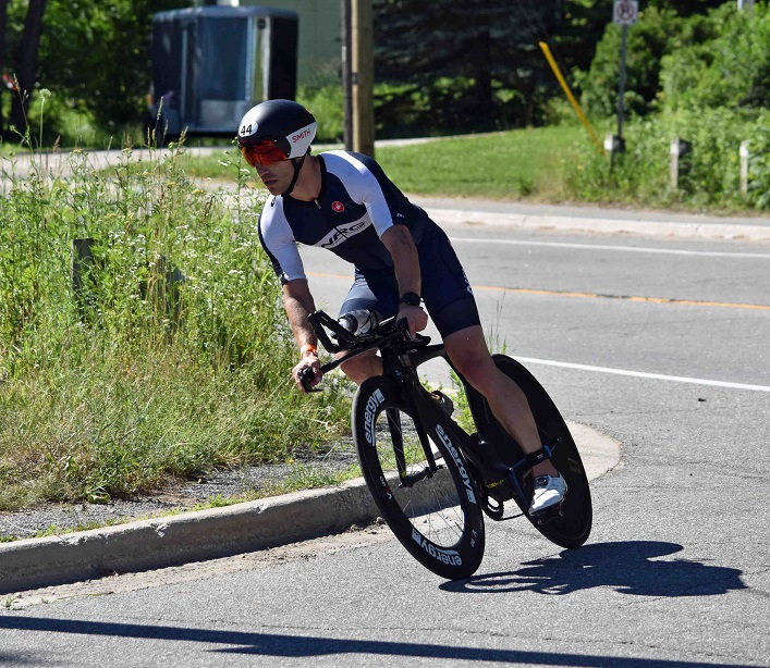 Local triathlete Jon Morton would finish 18 overall