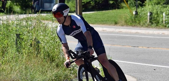 Local triathlete Jon Morton at the 2019 Ironman 70.3 Muskoka (Photo: Cheyenne Wood)