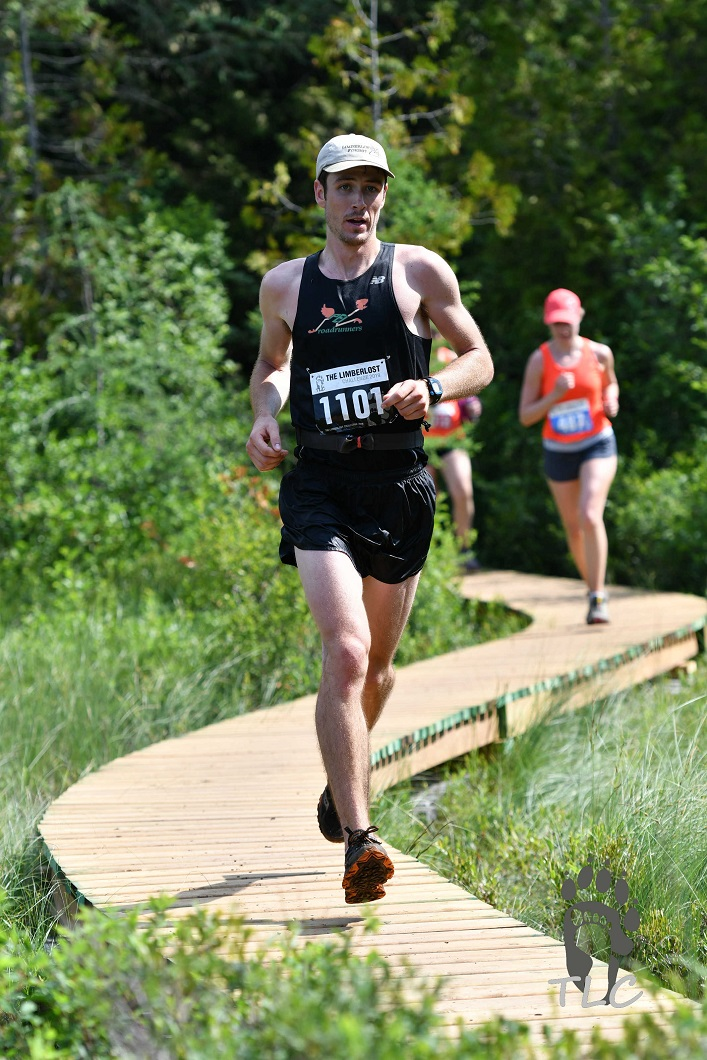 Kip Arlidge placed first in the 56K race at the 2019 Limberlost Challenge (thelimberlostchallenge.com / CLiiK Photography)