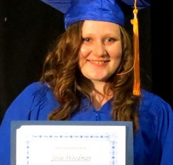 HHS grad Josie Woodman was one of six students awarded a grant from the MCF's South and Central Almaguin Education Fund