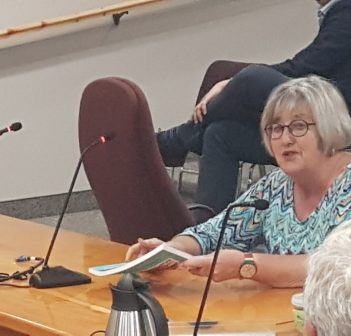 Tricia Markle introduces a new edition of Pictures From the Past at Huntsville council on July 22