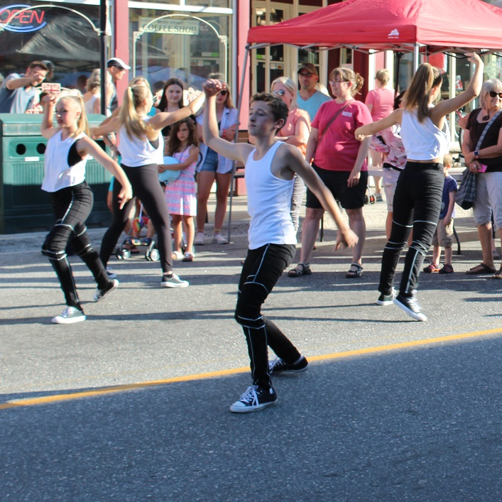 JJ Dance brought some hip hop to Main Street for Midnight Madness
