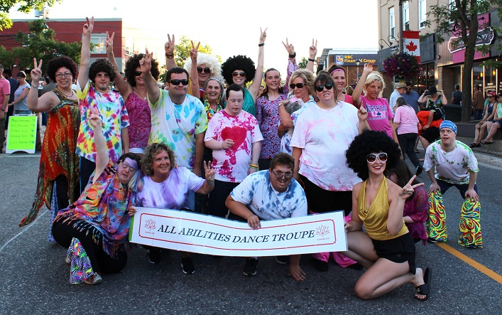 The All Abilities Dance Troupe from Community Living Huntsville put on a crowd-pleasing show