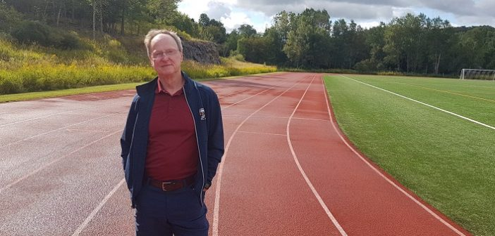 Don McCormick at the Conroy Park track, not far from where a hamstring injury derailed his training for the triathlon world championships