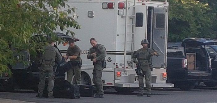 Heavy police presence around King William results in arrest