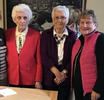 Marathon Bridge club members (from left) Beryl Clayson, Jean Reynolds, Betty Bennett, Marg Wood and Diane Litchfield