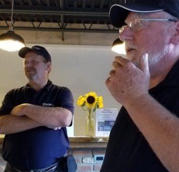 Martin Mann (left) and Rick Brooks at the second annual Kiwanis Club of Huntsville Muskoka dinner draw (supplied)