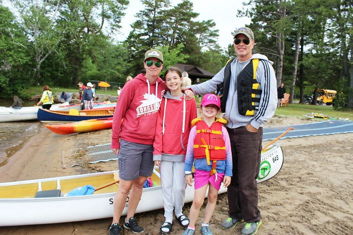 Paddle for Fairvern is a great event for families like the McNalleys (from left) Christine, Meaghan, Siobhan, and David