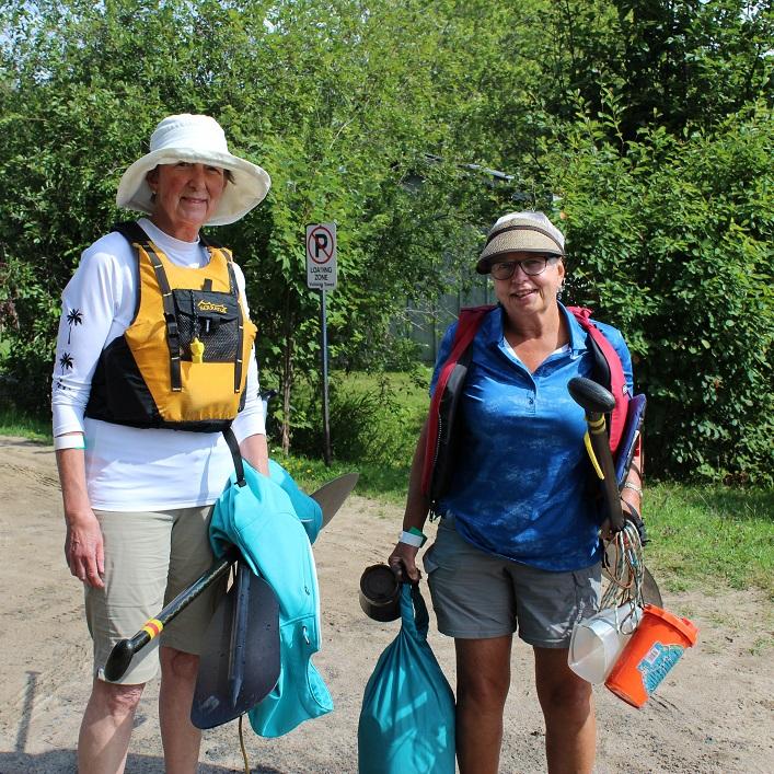 Betsy Rothwell (left) and Barbara Burton enjoyed this year's paddle