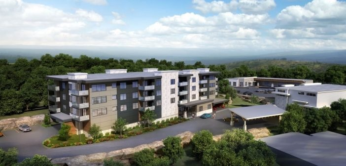 A rendering of The Tom at Campus Trails, a Greystone project