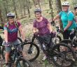 Karen Litchfield (second from left) with some members of the Huntsville women's mountain biking group (from left) Tracy Stager (leader), Beth Everist, Dawn Punkari, and Jen Allair (courtesy of Karen Litchfield)