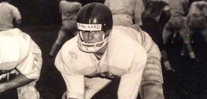 Tom Pinckard during his football days (Photo courtesy of Dan Pinckard)