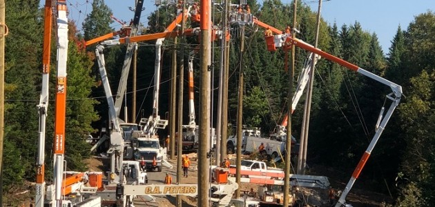 Earlier this year, Hydro One crews in Wallace worked together to bundle work in the region and make the necessary repairs to minimize the need for future outages (supplied)