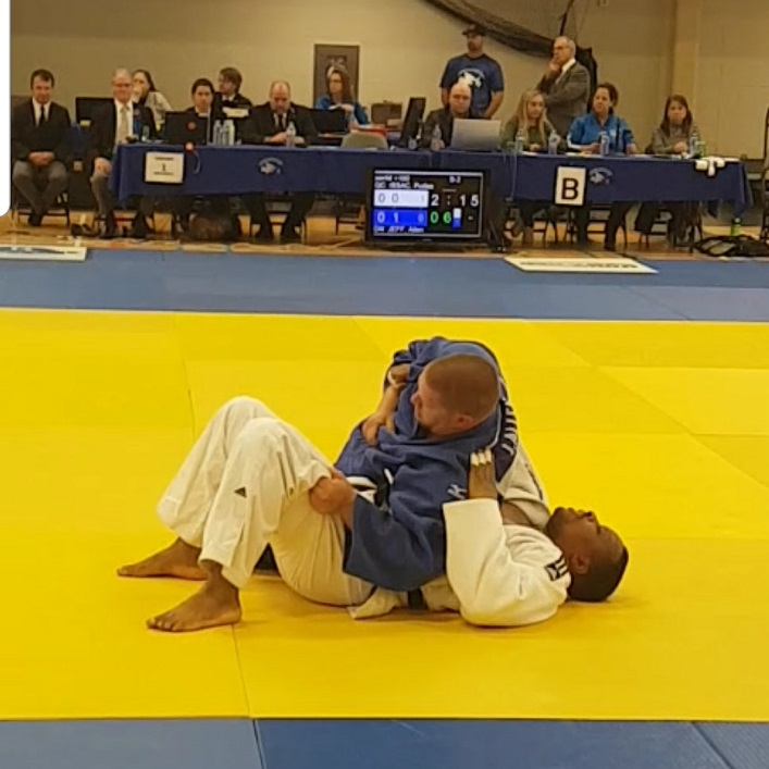 Jeff Allen in competition at the Eastern Canadian Judo Championships (Crystal Allen)