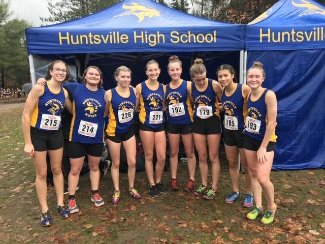 HHS XC Junior Girls (from left) Chloe Punkari, Samantha Premak, Laura Yungblut, Emily Walliser, Johanna MacDonald, Eva Byl, and Grace Gaughan (supplied)