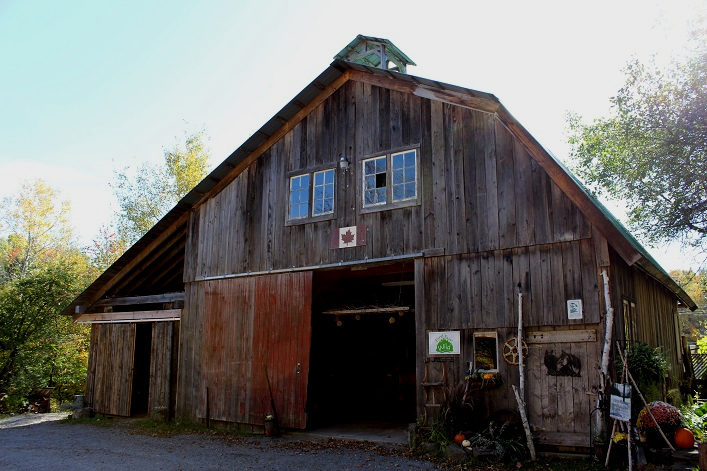 This old barn at Morgan House Bed and Breakfast was dismantled at a farm in Burk's Falls and painstakingly reassembled at its current home